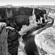 Black White Colorado River  Art Print