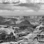 Black White Filter Grand Canyon  Art Print