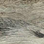 Black White Yellow Sand, Isle Of Lewis 2017 Art Print