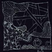 Black Zen 4 Art Print