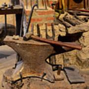 Blacksmith - Anvil And Hammer Art Print