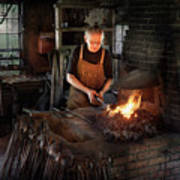 Blacksmith - Blacksmiths Like It Hot Art Print by Mike Savad