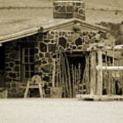 Blacksmith Shop 1867 Cove Creek Fort Utah Photograph In Sepia Art Print