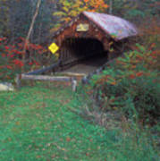 Blacksmith Shop Covered Bridge Art Print
