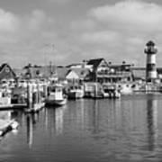 Black And White Oceanside California Marina  Art Print