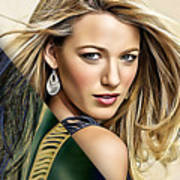 Blake Lively Collection Art Print