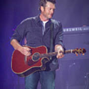 Blake Shelton Guitar 4 Art Print