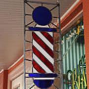 Blake's Barbershop Pole Vector II Art Print