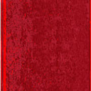 Blank Red Book Cover Art Print