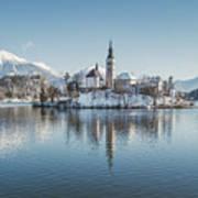 Bled Island Winter Dreams Art Print