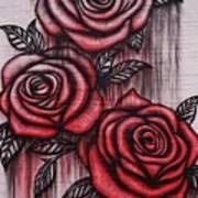 Bleeding Roses Art Print
