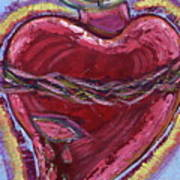 Bleeding Sacred Heart Art Print