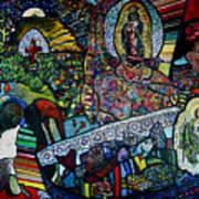 Blessing Of El Pescadero Mural Art Print