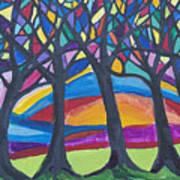 Blessing Trees 3 Art Print