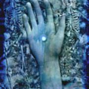 Bleu Danse Macabre Art Print