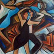 Bleu Danse Art Print