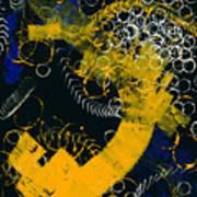 Bleu Et Jaune 1 Art Print
