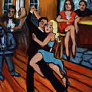 Bleu Tango Art Print