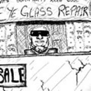 Blind Eye Glass Repair Art Print