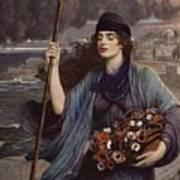 Blind Girl Of Pompeii Art Print
