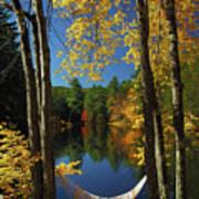 Bliss - New England Fall Landscape Hammock Art Print