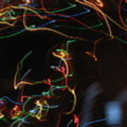 Blizzard Of Colorful Lights. Dancing Lights Series Art Print