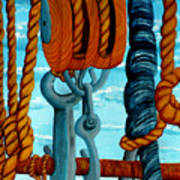 Block And Tackle Art Print