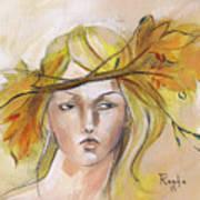 Blonde Autumn Forward Art Print