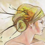 Blonde Autumn Right Art Print by Jacque Hudson