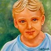 Blonde Boy Art Print