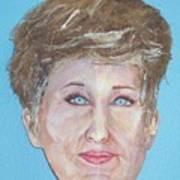 Blonde Comedian W Mullet - Do Art Print