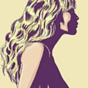 Blonde Art Print by Giuseppe Cristiano