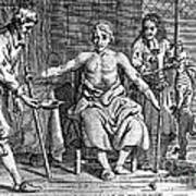 Blood Transfusion From Dog To Man, 1692 Art Print