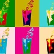 Bloody Mary Pop Art Panels Art Print