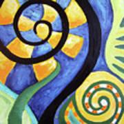 Blooming Aka Chris' Snail Art Print