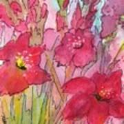 Blooming Glads Art Print