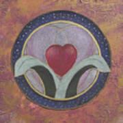 Blooming Heart Mandala Art Print