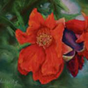 Blooming Poms Art Print