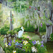 Blooming Swamp Art Print