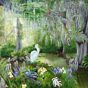 Blooming Swamp Print by Darlene Green