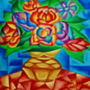 Blooms In Blue Art Print
