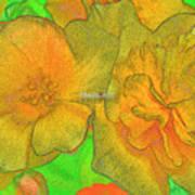 Blooms Yellow Art Print