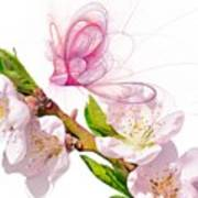 Blossom And Butterflies Print by Sharon Lisa Clarke