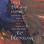 Blossom II Art Print by Judy Dodds