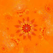 Blossom In Orange Art Print