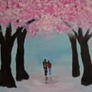 Blossoming Romance Art Print