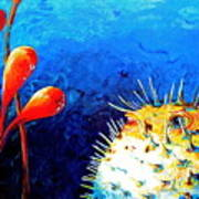 Blow Fish Art Print