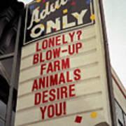 Blowup Farm Animals Sign Art Print