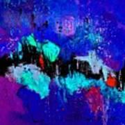 Blue Abstract 55698 Art Print