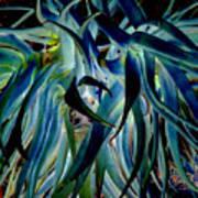 Blue Abstract Art Lorx Art Print